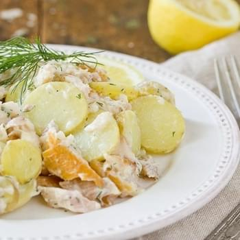 Smoked Trout & Potato Salad with Buttermilk Vinaigrette