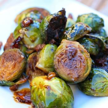 Roasted Brussels Sprouts with Chipotle-Bacon Jam