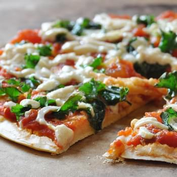Easy Vegan, Gluten-Free Chickpea Crust Pizza