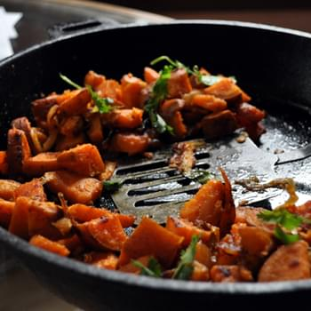 Smoked Sweet Potato Home Fries