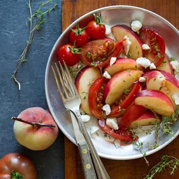Peach and Heirloom Tomato Salad