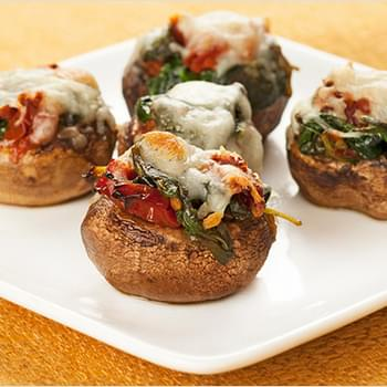 Spinach and Sun-Dried Tomato Stuffed Mushrooms