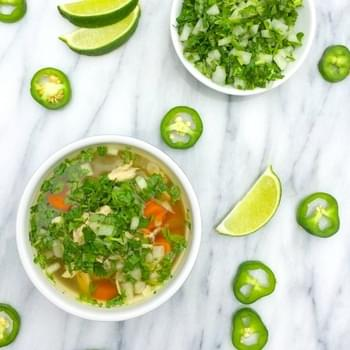 Slow Cooker Caldo de Pollo {Mexican Chicken Soup}