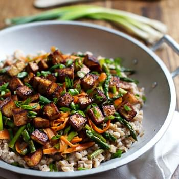 Honey Ginger Tofu and Veggie Stir Fry