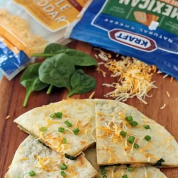 Five Cheese Spinach Quesadillas