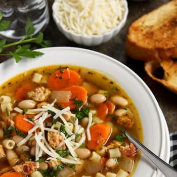 Italian Chicken Sausage Soup with White Beans