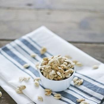 Parmesan Roasted Pumpkin Seeds