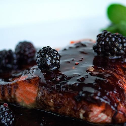 Salmon with Blackberry Brandy Sauce