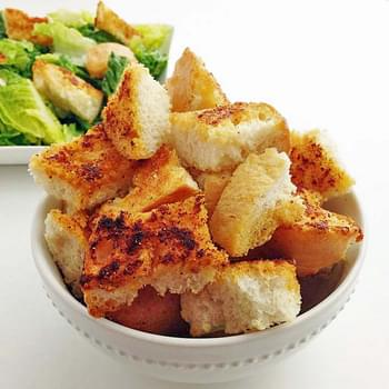 Sourdough Garlic Croutons
