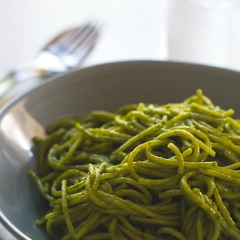 15 Minute Coconut Green Pasta