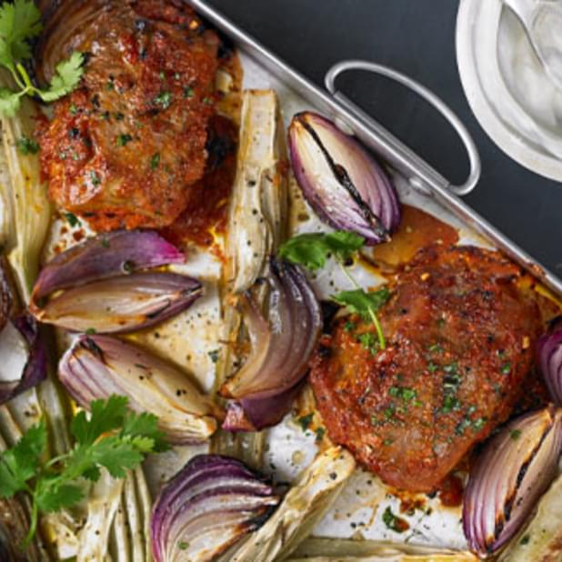 Roast Pork With Fennel And Preserved Lemon
