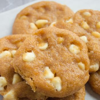 Pumpkin Spice White Chocolate Chip Cookies