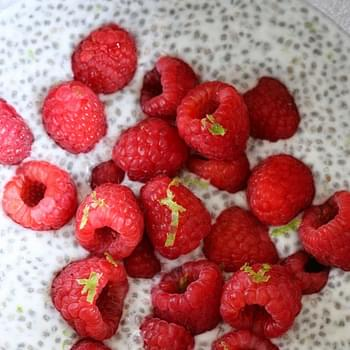 Coconut Lime Raspberry Chia Pudding
