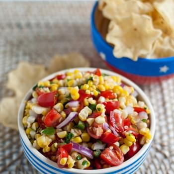 Grilled Sweet Corn Salsa