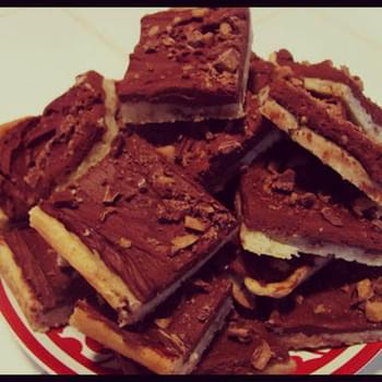 Cream Cheese Chocolate Toffee Bars