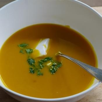 Thai Yellow Curry Sweet Potato And Carrot Soup