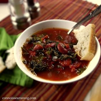 Tangy Red Bean and Kale Soup