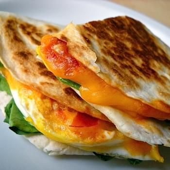 Chili Garlic Breakfast Quesadilla