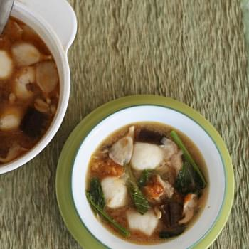 Vegan Mushroom And Vegetables Miso Soup