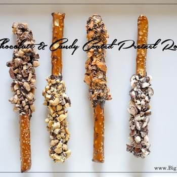Chocolate & Candy Coated Pretzel Rods