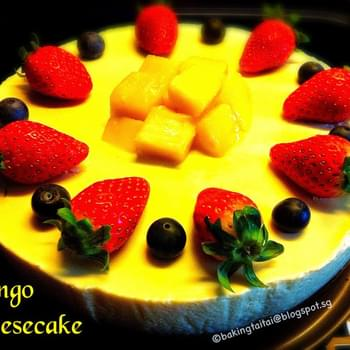 Non-Bake Healthy Mango Cheesecake