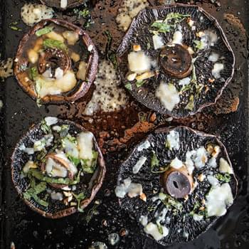 Portobello Mushrooms with Parmesan and Basil