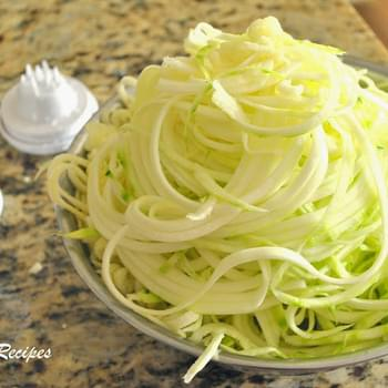 Spiralized Zucchini and a New Twist on Pasta
