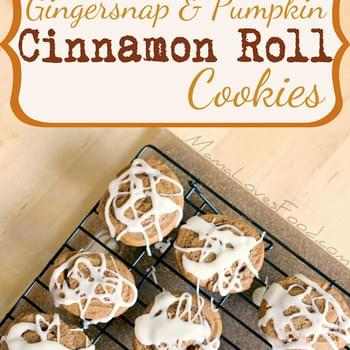 Gingersnap and Pumpkin Cinnamon Roll Cookies
