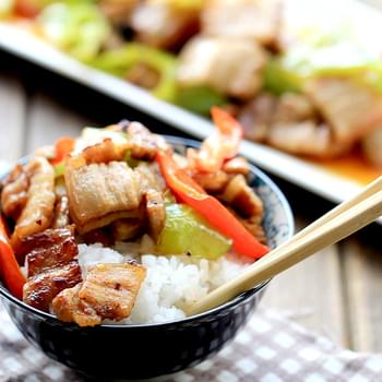 Easy Pork Stir fry with Peppers
