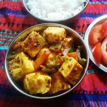 Paneer Jalfrezi recipe – Indian cottage cheese (paneer) with mixed vegetables and spices