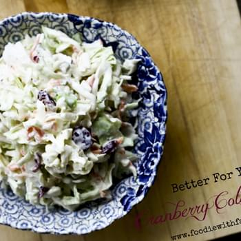 Better For You Cranberry Coleslaw
