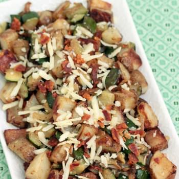 Zucchini Potato Hash with Bacon and Cheddar