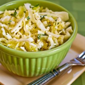 Greek Cabbage Salad with Feta and Fresh Thyme