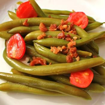 Prosciutto Garlic Green Beans With Tomatoes