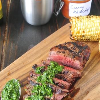 Grilled Filet Mignon With Mint And Parsley