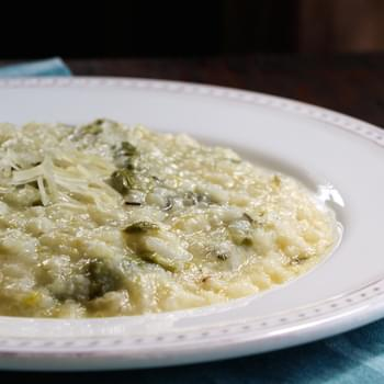 Slow Cooker Creamy Asparagus Risotto