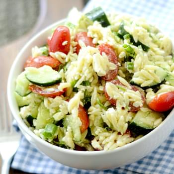 Greek Orzo Salad with Mustard-Dill Vinaigrette Bobby Flay