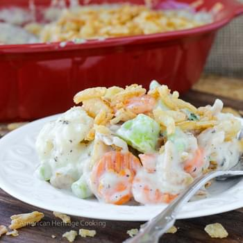 Creamy Swiss Cheese Mixed Vegetable Casserole