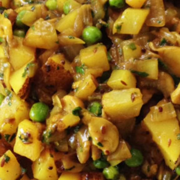 Perfect Potato and Pea Coconut Curry