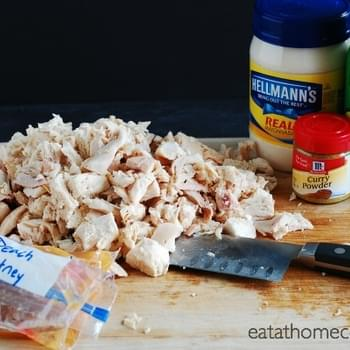 Peach Chutney Chicken Salad – 15 Minute Meal