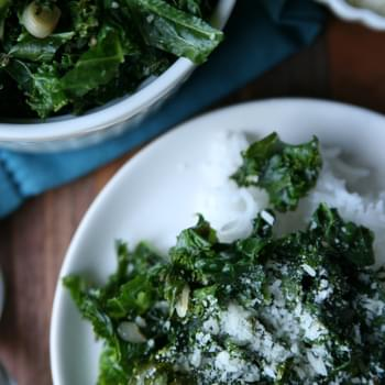 Wilted Kale with Ramps and Rice