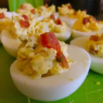 Hazelnut-Bacon Deviled Eggs