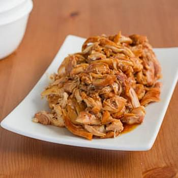 Slow Cooker Brown Sugar Glazed Pulled Chicken