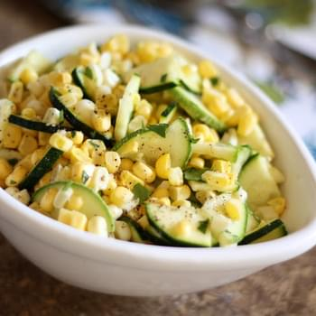 Raw Corn and Zucchini Salad with Lime Vinaigrette