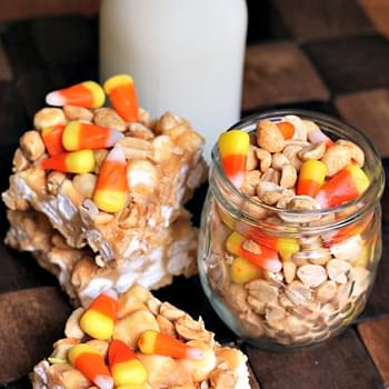 Candy Corn Peanut Mallow Bars