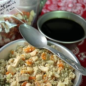 Instant Meal-On-The-Go | Cous Cous with Apricots, Macadamia Nuts, & Chicken