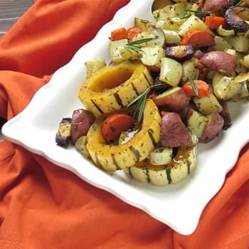 Savory Oven Roasted Root Vegetables