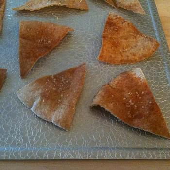 Baked Pita Chips MIY (make-it-yourself)