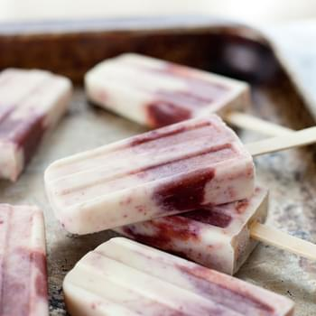 Honey Roasted Fig And Goat Cheese Popsicles