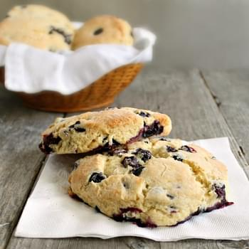 Lemon and Blueberry Cornmeal Scones